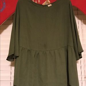 Faded Glory green blouse